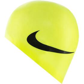 Nike Swim Big Swoosh Printed Silicon Cap volt